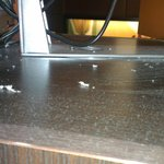 Dust accumulation on TV cabinet