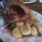 Sunday lunch with a GIANT yorkshire pudding