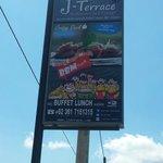 The restaurant signage