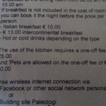 Additional Charges for Using the Kitchenette... what a joke!