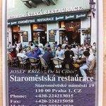 Staromestska Restaurant Card