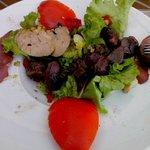 La salade gasconne au Foie et Gésiers