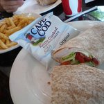 Turkey Wrap and French Fries