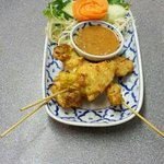 chicken satay, lunch time