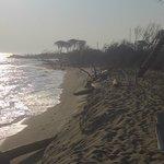 La spiaggia a 10 km