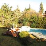 jardin y pileta climatizada por el sol!!! desde Agosto