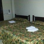 Room 215, 2 queen-sized beds, poor wifi