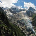 Glacier de Taconnaz et Dôme du Goûter