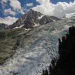 Glacier des Bossons vu du chalet des Pyramides