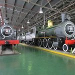 Two of the steam locomotives, that have been used in areas where there was no electricity