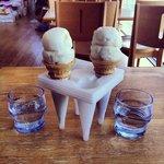 sorvete turco vendidos nas lojas