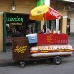 Lucky dog cart.