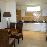 The well fitted kitchen and dining area