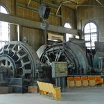 Massive electric motor inside the winch building