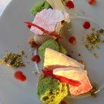Dessert rhubarbe et fraise