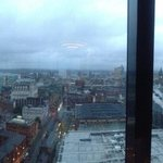 Looking down on Deansgate and the G-Mex
