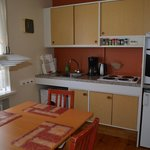 view of the kitchen in the apartment