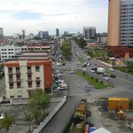 The view of Kuching city from the hotel room