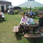 Eggcup Tearoom Garden table