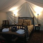 Our magical room/tent!