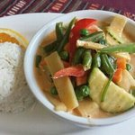 Red Curry, loaded with vegetables.