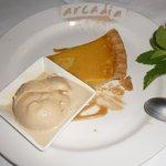 Lemon chess pie & salted caramel ice cream