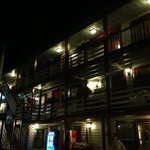 night time view of surfside