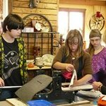 Kids enjoy creativity sessions at the Barn