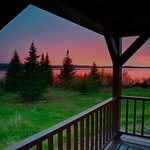 Enjoy a beautiful sunset from the Anne Marie Lodge wrap deck