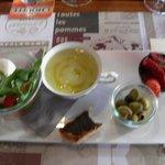 Starter - including melon soup!