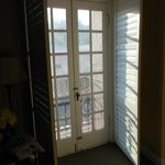 french doors to small balcony
