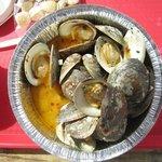 A dozen littleneck clams cooked - so good!