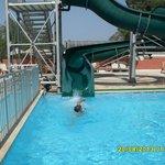 Slide in the pool