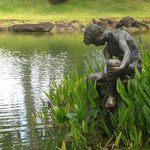 Beautiful ponds, plants and sculptures create a magical space