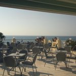 same nice evening restaurant terrace