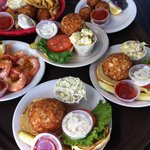 Stoney's crab cakes on the way to hungry diners