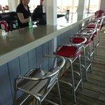 Popular outdoor bar area open during seasonal months