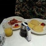 bacon et pancakes