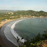 San Juan del Sur beach viewed from Cristo de la Misericordia