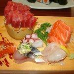 Sashimi (looks nice, but not perfectly fresh)