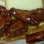 FRIDAY ONLY BBQ Wing Basket - (6) Deep Fried BBQ Wings (parts) served over homestyle Fries