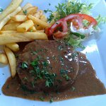 Steak hache (excellent for the price)