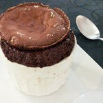 Chocolate souffle (pretty ugly and way too runny)