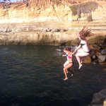 Cliff Jumping Into The Pacific Ocean!