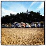The beach huts on Wells beach