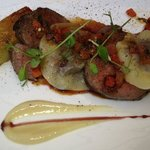 Eye fillet, Pommes Anna and oxtail ravioli