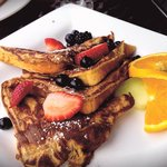 Yummy French toast at breakfast (only wished they served this with real maple syrup!)