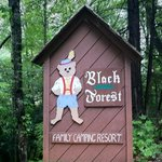 Black Forest welcome sign