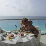 Breakfast on our balcony every morning!