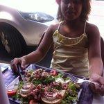salade de chèvre chaud aux petits lardons !